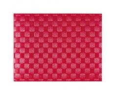 Saleen Mantel Individual Rectangular, 30 x 40 cm, Color Rojo,