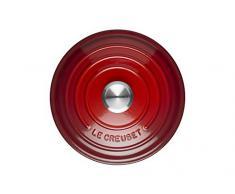 LE CREUSET Evolution Cocotte con Tapa, Redonda, Todas Las Fuentes de Calor Incl. inducción, 2,4 l, Hierro Fundido, Rojo (Cereza), 20 cm