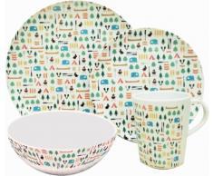 OLPro Berrow Hill - Vajilla para 2 personas (melamina, 8 piezas), multicolor