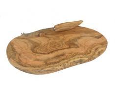 BERARD 56178 - Tabla y cuchillo para quesos madera de olivo 32 5 x 17 5 cm (h.nr.)