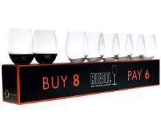 Orange - Juego de copas para vino tinto (8 unidades)