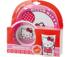 BBS GO ON - Vajilla infantil, 3 piezas, estampada Hello Kitty