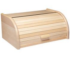 Kitchen Craft - Panera de haya con tapa deslizante (40 x 28 x 18 cm)