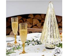 Party Porcelain Gold Champagne Glass