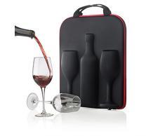 XD Design Swirl - Estuche de vino, color negro y rojo