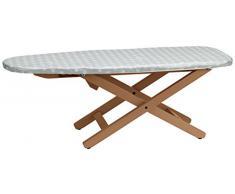 Arredamenti Italia 637 MINISTYRO para tabla de planchar plegable de madera de haya Cherry 81 x 33 x 30 cm