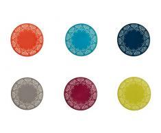 Villa D'este Home 2409852 6pieza(s) Cerámico tabla para sartén - tabla para sartenes (16 cm, 6 pieza(s), 160 mm, 160 mm, 20 mm, 280 g)