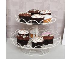 Premier Housewares - Soporte para tartas (2 estantes, alambre, 28,5 x 21 cm)