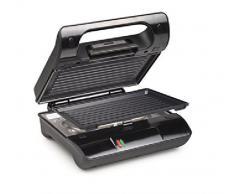 Princess Grill Compact Flex - Parrilla compacta multiuso, 23 x 13 cm, color negro