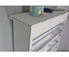 Estantería de pared toallero rollo de cocina Estante Madera Color blanco antiguo rollo soporte Estantería