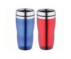 KAISERHOFF termo - juego de vasos de tubo - acero inoxidable/plástico - 450 ml - vaso térmico - vasos