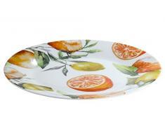 GILDE plato decorado con Naranjas y Limones, Material Porcelana de ceniza de hueso ó Bone China 19,2 cm