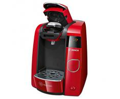 Bosch TAS4503 - Cafetera de cápsulas, 1300 W, 1.4 l, color rojo y negro
