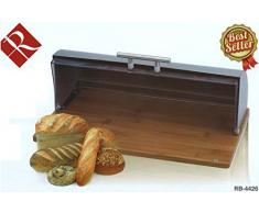 Renberg Breadbox - Panera, 38 x 26,8 x 14 cm, acero inoxidable