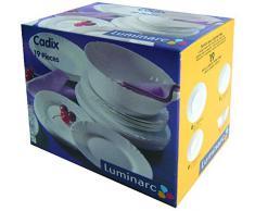 Dajar 00119 Cadix Luminarc vajilla de 19 piezas, color blanco