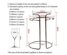 Yolococa - Nuevo soporte mejorado para secado de decantador de vino o copas, de acero inoxidable, soporte multiusos