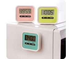 Temporizador de Cocina , Magnética Digital Temporizador de Cocina con Alarma Fuerte con LCD Pantalla-(Negro)