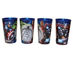 Marvel Avengers Vaso para zumo, 4 unidades