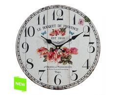 Reloj Pared Provence 33,8x4x33,8 Cm.
