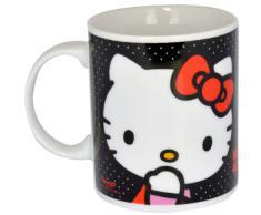 Hello Kitty - Taza regular de porcelana, color negro (United Labels 811288)