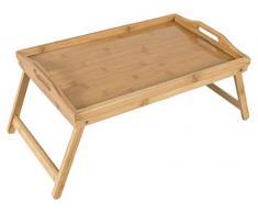 Bambú bandeja de desayuno con patas plegables y asas, bandeja, Lap Table – 50 x 30 x 25