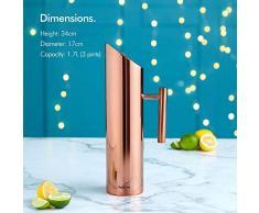 Jarra de agua, acero inoxidable, cobre, 1.7 Litre