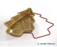 Silikomart 20.203.63.0068 - SFT203 Molde forma Árbol de Navidad en silicona Dorado