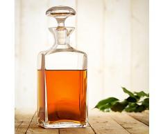 Jarra de whisky elegante - Jarra de whisky con tapón hermético - Decantador de cristal - Fabricado a mano - Volumen: 750 ml