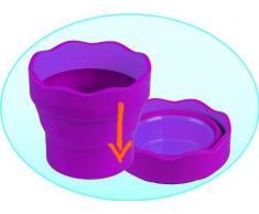 Faber-Castell - Vaso para el agua Clic & Go plegable fácil de guardar, color azul (181510)