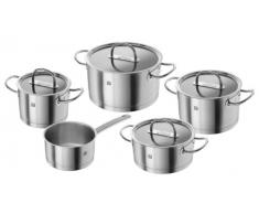 Zwilling Prime - Batería de cocina de 5 piezas, Acero Inoxidable, Tapas de Cristal, Apta para Todo Tipo de Cocinas