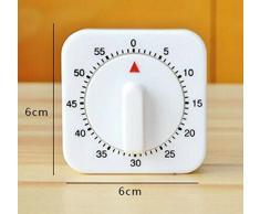 CAOLATOR Reloj de Cocina de Tiempo Breve Recordatorio Temporizador Despertador/60 minutos/Blanco