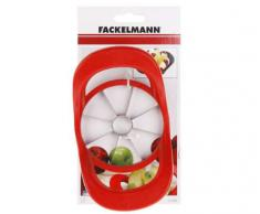 Fackelmann 42088 - Cortador de manzanas 2 en 1 (acero inoxidable), color rojo