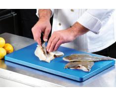 Kesper HACCP 30152 - Tabla para cortar, plástico, color azul, 53 x 32.5 x 1.5 cm
