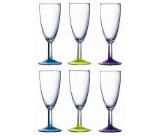 Menastyl Table 9208312 - Copas alargadas de champán, 145 ml, 19 x 13 x 17 cm (surtido, conjunto de 6)