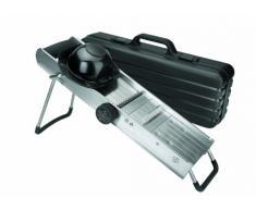 Lacor 60357 - Mandolina de acero inoxidable con protector