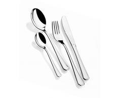 Monix Venecia - Set de cubiertos 24 piezas, cubiertos de acero inox 18/10, estuche y cuchillo normal