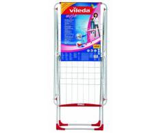Vileda Tendedero Style - Tendedero plegable con ruedas y protectores para el suelo
