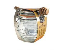 Kilner caras clip Top tarro, Vidrio, transparente, 0.4 Litre
