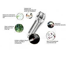 Ambientador de aire para coche, ionizador de aire. Ideal para alérgicos y fumadores. Limpia el aire y elimina los malos olores. Empaquetado en una bonita caja de regalo.