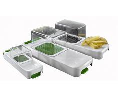 Alligator 3080 Family Cebolla, hortalizas y Frutas 4 Teilig Set, Utensilios de Cocina para una rápida y Limpieza de Corte