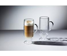 Kitchencraft Le XpressKCLXDWLATTE2PC - Vasos de vidrio laminados de doble pared, 2 vasos latte, 325 ml