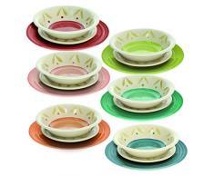 Tognana - Vajilla de 18 piezas Daisy multicolor, Stoneware