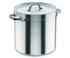 Lacor Chef 20128 - Olla recta con tapa, 28 cm, aluminio