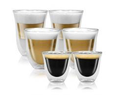 Delonghi Gran Conjunto amurallado termo vasos de café espresso, latte macchiato