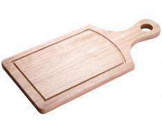 Tabla de cortar - 38 x 18 x 1,6 cm - Madera - bandeja de desayuno - tabla - caucho - Tabla de