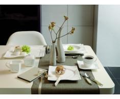Ritzenhoff & Breker Scala 597851 - Vajilla (12 piezas), color blanco y marrón