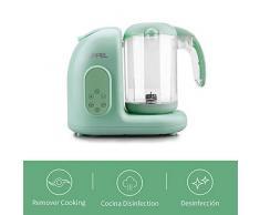 Robot de Cocina, UPPEL Licuadora Bebé, Batidora de Vaso de Alimentos para bebé Potencia de 300W / 65W Vapor y antivirus de alta Temperatura combinación de múltiples funciones para el Bebé (Verde)