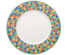 Villeroy & Boch Twist Alea Limone Plato de presentación, 30 cm, Porcelana Premium, Blanco/Amarillo