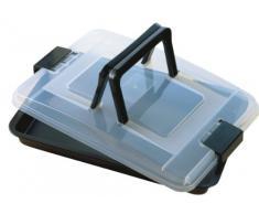 Kaiser Bake & Take Molde transportable Rectangular, Antiadherente recubierta, Negro, 30 cm