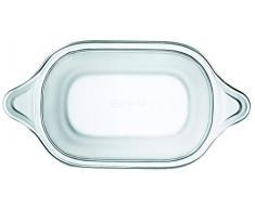 Lock&Lock LLG580 - Fuente rectangular para horno, vidrio de borosilicato, 700 ml
